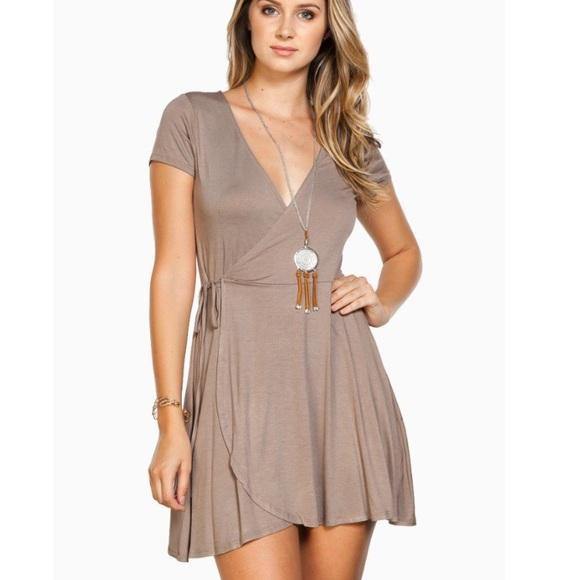 Asos Dresses Wrap Dress Color Mauve Poshmark